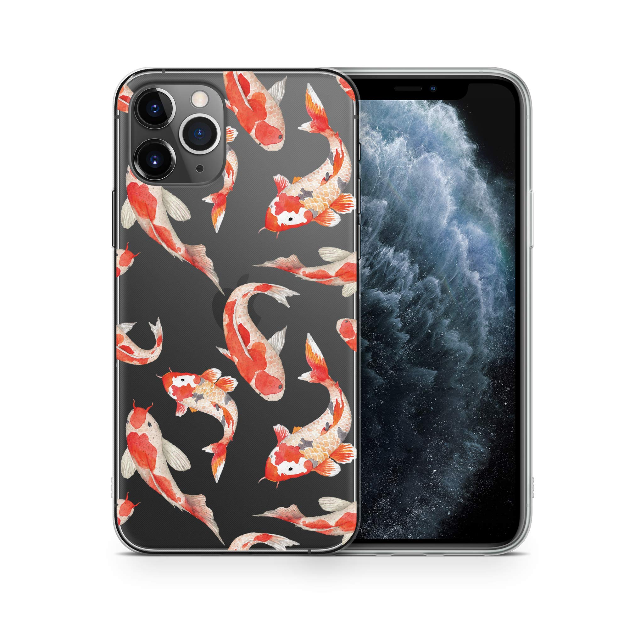 iPhone 11 Pro Max Case by Case Yard Fit for iPhone 11 Pro Max 6.5-Inch [ 2019 Release ] Shock-Absorption iPhone 11 Pro Max Case Clear iPhone 11 Pro Max Clear iPhone 11 Pro Max Case Koi Fish