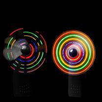 LED Portable Handheld Fan - Light Up Spinner Fan Battery Operated- Black