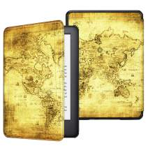 Fintie Slimshell Case for All-New Kindle (10th Generation, 2019 Release) - Lightweight Premium PU Leather Cover with Auto Sleep/Wake (NOT Fit Kindle Paperwhite or Kindle 8th Gen), Ancient Map