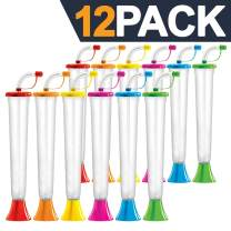 Yard Cups Party 12-Pack - for Margaritas, Cold Drinks, Frozen Drinks, Kids Parties - 14 oz. (400 ml) - set of 12 Yard Cups in assorted colors - BPA Free and Crack Resistant