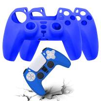 AVITER PS5 Silicone Controller Skins - Dustproof Anti-Slip Cover for Sony PS5 Playstation 5 Controller, Durable Protector Case for Playstation 5 DualSense Wireless Controller 2 Pieces (Blue)
