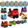 auryee Toys Train Sets for Kids,12 PCS Easter Eggs,Easter Basket Fillers Fift for Boys 6-8-14, Model Train Track, Building Blocks,Birthday/Party Favors/Party Supplies for Ages9 10 11 12 Year Old Boys