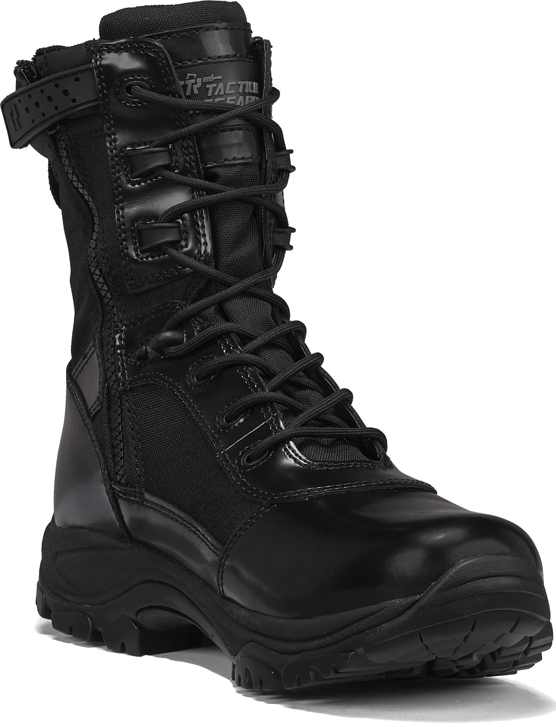 "TACTICAL RESEARCH TR Men's Class-A TR908Z WP 8"" Waterproof High Shine Side-Zip Boot"