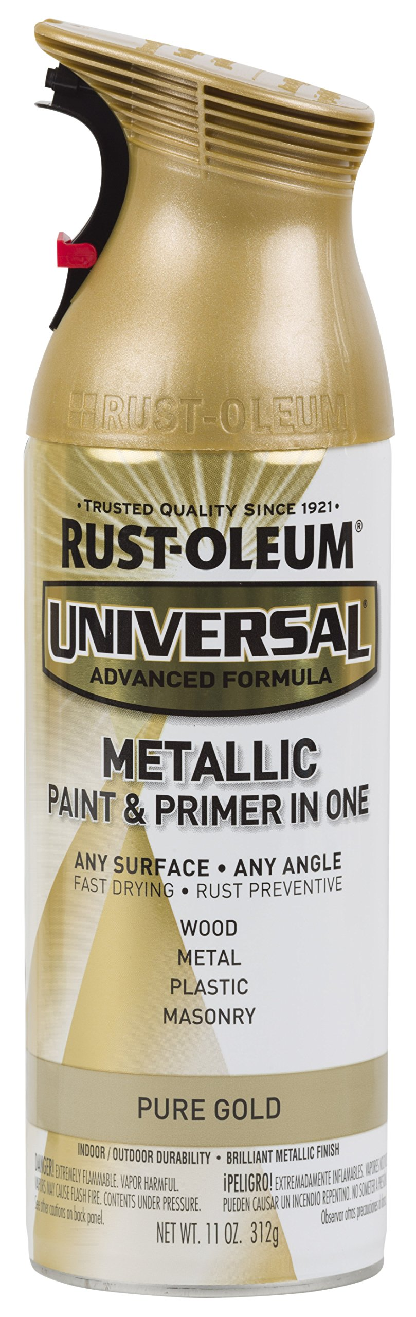 Rust-Oleum 245221-6 PK 245221 Universal All Surface Spray Paint, 11 oz, Metallic Pure, 6 Pack, Each, Champagne Gold Mist