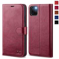 OCASE iPhone 11 Pro Max Case, Leather Wallet Flip Case with Card Holder Kickstand Magnetic Closure, TPU Shockproof Interior Protective Phone Cover for iPhone 11 Pro Max 6.5 inch 2019(Burgundy)