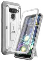 SupCase Unicorn Beetle PRO Series Design for LG V50 / LG V50 ThinQ 5G Case 2019, Full-Body Protective Case with Built-in Screen Protector Kickstand & Holster Clip (White)