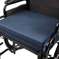 """DMI Seat Cushion for Wheelchairs, Mobility Scooters, Office & Kitchen Chairs or Car Seats to Add Support & Comfort while Reducing Pressure & Stress on Back, 4"""" thick, 16 x 18, Navy Blue"""