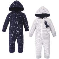 Yoga Sprout Baby Girls' Hooded Fleece Jumpsuits