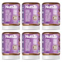 NuttZo Chocolate Power Fuel Smooth, Natural 12 Ounce (Pack of 6)