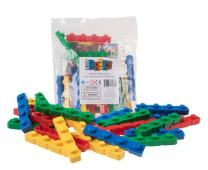 Strictly Briks Classic Diagonal Big Briks Building Brick Set 100% Compatible with All Major Brands   Large Pegs for Toddlers   Ages 3+   Premium Bricks with Big Pegs in 4 Fun Colors   24 Pieces