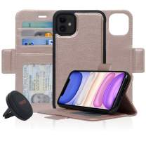 Navor Universal Car Mount & Detachable Magnetic Wallet Case with RFID Protection Compatible for iPhone 11 [6.1 inch] [Vajio Series] - Rose Gold [IP11VJKTRG]