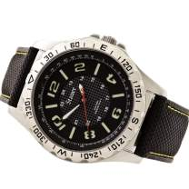 Stauer Men's Tac-7 Stainless Steel Watch with Leather Band
