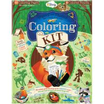 Wee Believers Woodland Respect and Protect God's Creation Coloring Kit with Colored Pencils