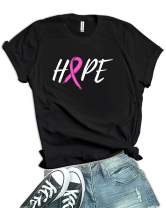Decrum Pink Ribbon Breast Cancer Shirts for Women