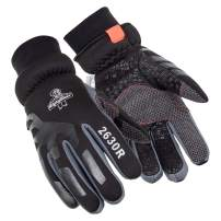 RefrigiWear Women's Thinsulate Insulated Tricot Lined Softshell Gloves with Silicone Grip