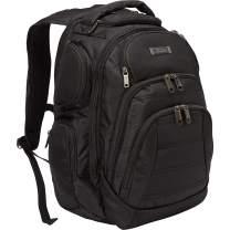 "Kenneth Cole Reaction Pack-of-All-Trades' Multi-Pocket 17.0"" Laptop & Tablet Business Travel Backpack, Black"