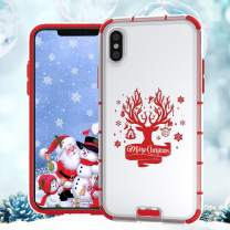 BIBERCAS iPhone 11 Christmas Case,Slim Thin Clear iPhone 11 Case with Christmas Design,Merry Christmas Snowman Pattern Transparent Hard PC Back Shockproof Protective Cover Case for iPhone 11-6.1 inch