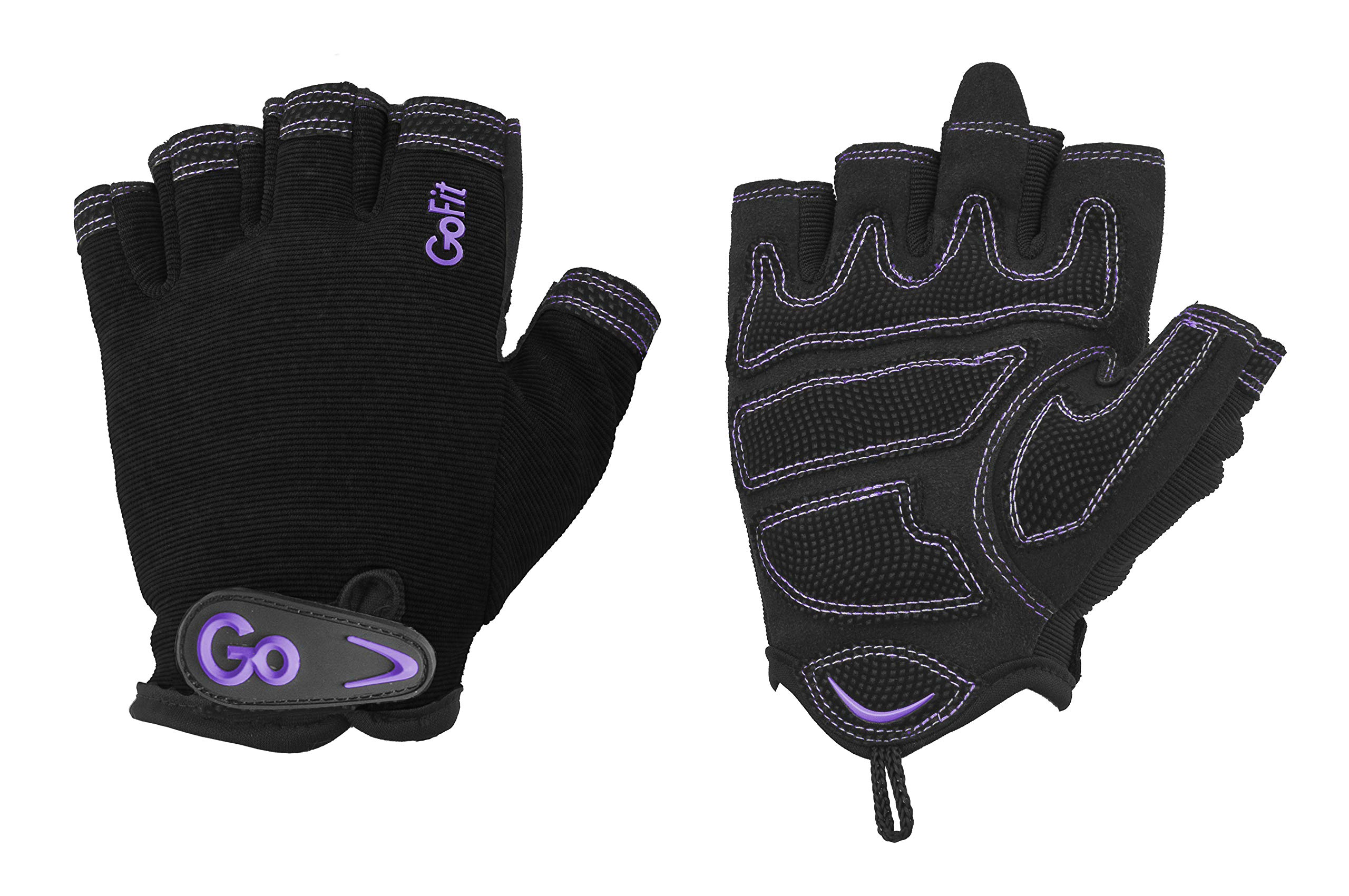 GoFit Xtrainer Cross Training Glove - Synthetic Leather Palm for Women - Medium