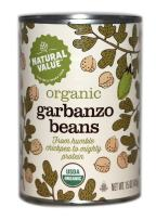 Natural Value Organic Garbanzo Beans, 15 Ounce (Pack of 12)