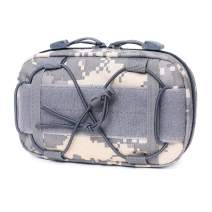 Tactical Molle Horizontal Admin Pouch Compact 1000D Utility EDC Tool Bag with Shoulder Strap
