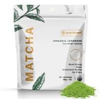 Organic Matcha Green Tea Powder - Japanese - Culinary Grade - Small Size 30g (1 oz) - Perfect for Matcha Lattes, Smoothies, Baking - by Greenboxed Co