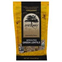 truRoots Organic Sprouted Green Lentils, 10 oz
