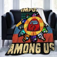 VigorPow Among Us Imposter Merch Fuzzy Fluffy Plush Micro Soft Flannel Throw Blanket Fit Couch Chair Bed Sofa, Machine Washable 50x40 inch