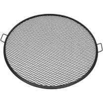 Sunnydaze Decor Fire Pit Cooking Grill, X-Marks BBQ Grate,Black,40 Inch
