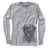 Inkopious Patriotic Heath The Black Lab Labrador Retriever Dog Triblend T-Shirt
