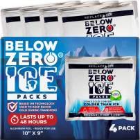 Below Zero Colder Than Ice Freeze Packs - Made in USA 10x9in Longest Lasting Ready to Use Ice Pack for Lunch Box, Coolers, Fits Large and Small Insulated Coolers - No Ice Needed - Lasts Upto 48 Hrs