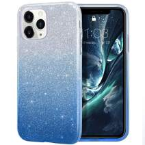 MILPROX iPhone 11 Pro Max Case, Bling Sparkly Glitter Luxury Shiny Sparker Shell, Protective 3 Layer Hybrid Anti-Slick Slim Soft Cover for iPhone 11 Pro Max 6.5 inch (2019)-Blue Gradient