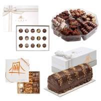 Chocolate Mishloach Manot Purim Gifts - Gift Set with 4 Fabulous Chocolate Gifts