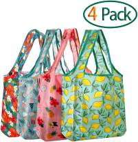 Reusable Grocery Bags Foldable Large Shopping Bags Totes Heavy Duty Washable Cloth Grocery Bags, Eco-Friendly Ripstop Waterproof Fits in Pocket