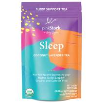 Pink Stork Sleep Tea: Coconut Lavender, USDA Organic, Sleep Aid, Natural Sleeping Support, Fall + Stay Asleep, Women-Owned, 30 Cups