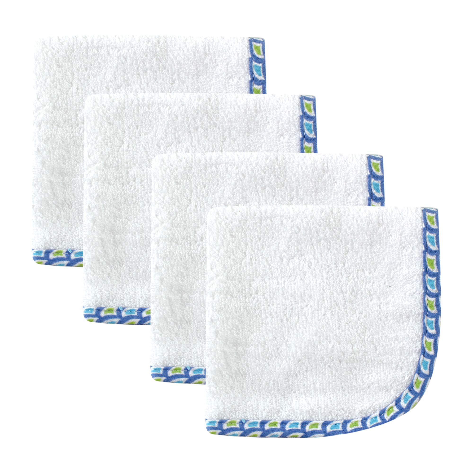Hudson Baby Woven Washcloth, Blue
