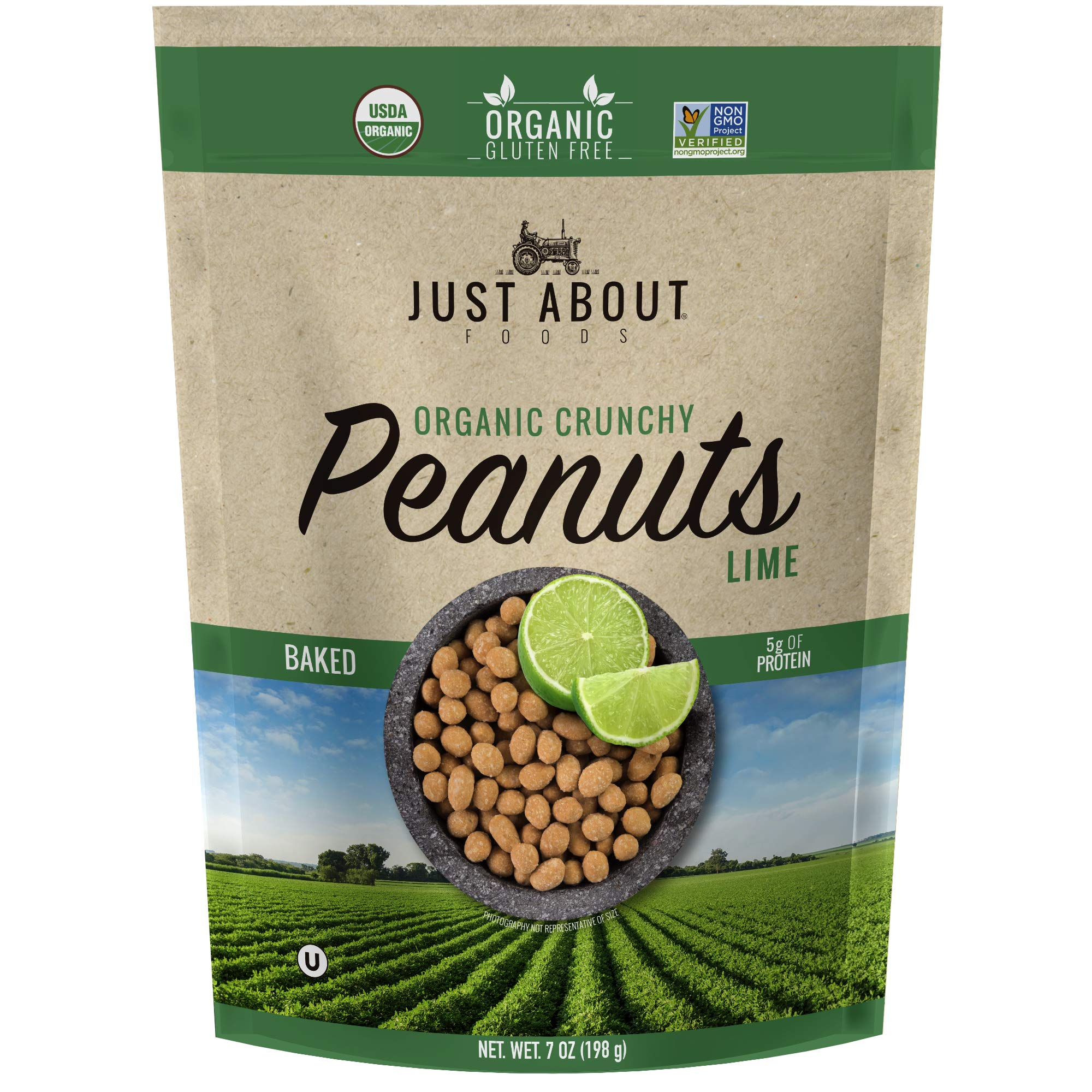 Organic Crunchy Peanuts Lime 7 oz. (198g) Just About Foods