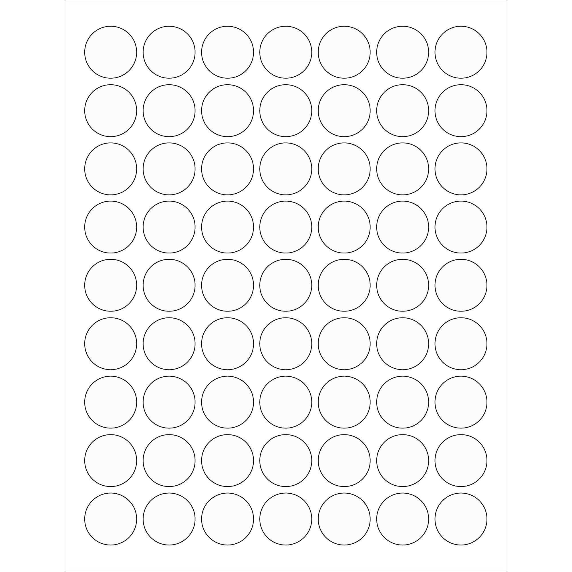 """Tape Logic TLLL230CL Circle Laser Labels, 1"""", Clear (Pack of 6300)"""
