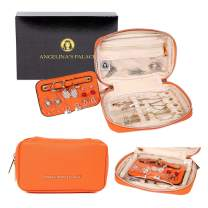 Angelina's Palace Jewelry Organizer Case Travel Bag Bridesmaid Gifts Small Box for Necklace Earring Bracelet Ring(Light Terracotta)