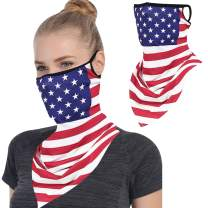 Hissox Face Bandana Mask, Ear Loops Neck Gaiters Stretchy Outdoors Face Cover Shield for Dust Wind Sun Men Women