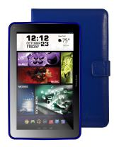 "Visual Land Prestige ELITE 9Q-KC - 9"" Quad Core 16GB Android Tablet with Keyboard Case, KitKat4.4, Google Play (Blue)"