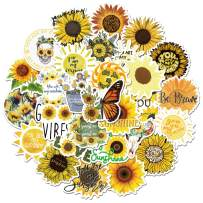Sunflower Stickers, 50 Pcs You are My Sunshine Decal for Teens Adults Kids, Waterproof Vinyl Stickers for Water Bottles Laptop Guitar Bike Flask