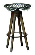 Pulaski  Antique Swiveling Metal Tractor Seat Barstool