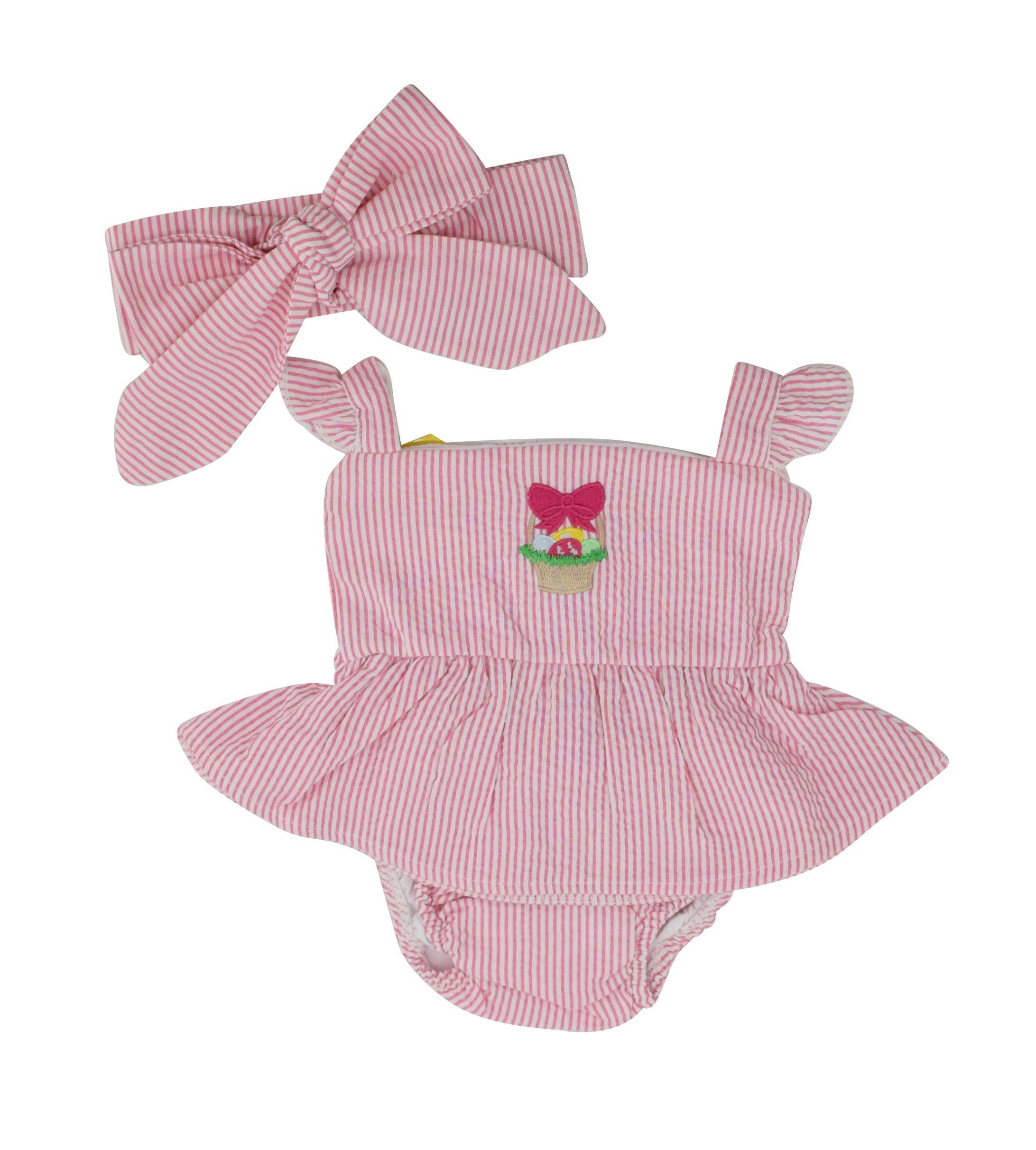 Unique Baby Girls My First Easter Basket Headband Onesie Outfit