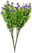 Bird Fiy Babys Breath Artificial Flowers,4 Bundles Gypsophila Flower Wedding Home Decor Gift(Purple)