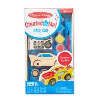 Melissa & Doug Created by Me! Race Car Wooden Craft Kit - The Original (Great Gift for Girls and Boys – Best for 4, 5, 6, 7 and 8 Year Olds)