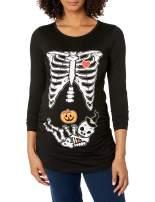Tstars Pregnant Halloween Shirt Skeleton Baby Costume Maternity Long Sleeve Shirt