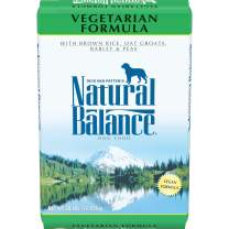 Natural Balance Vegetarian Dry Dog Food, Brown Rice, Oat Groats, Barley & Peas, Vegan