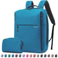 Travel Laptop Business Backpack, Anti Theft Water Resistant School Computer Bagpack Gifts for Men & Women,Fits 15.6 Inch Notebook with USB Charging Port Bonus a Small pencil Case, Blue green