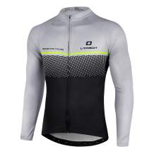 LAMEDA Cycling Jersey Mens Long Sleeves Athletic Bicycle Breathable with Pockets