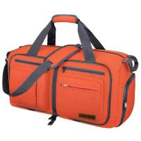 Travel Duffel Bag, 115L Packable Duffle Bag with Shoes Compartment Foldable Weekender Bag for Men Women Water-proof & Tear Resistant HIKISS-Orange